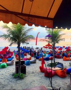 Our night at the beach in Seminyak was a success, despite the earlier mishap!